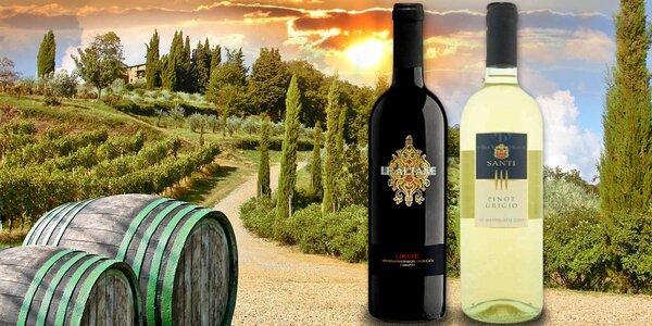 Balení šesti vynikajících italských vín