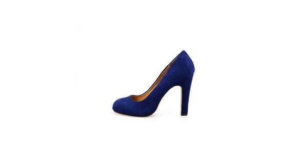 Dámské kobaltově modré semišové lodičky La Strada