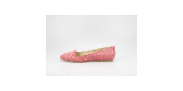 Dámské korálově červené sultánky s barevnými kamínky La Strada