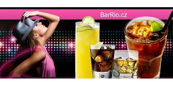 99 Kč za ČTYŘI míchané drinky v nonstop Baru Rio s diskotékou.