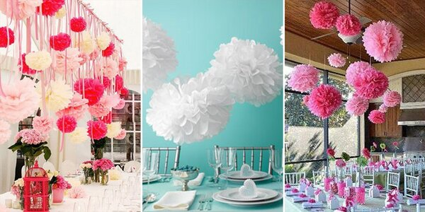 Závěsné dekorace na oslavy i svatby