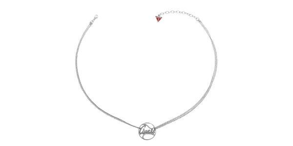 Dámský stříbrný náhrdelník Guess s přívěskem