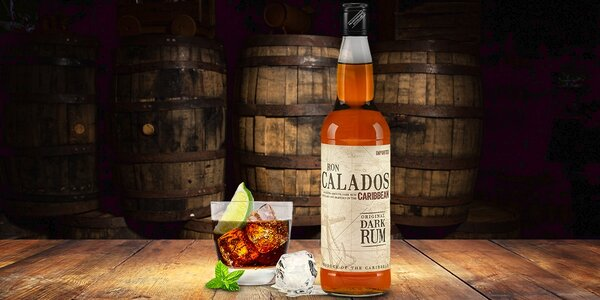 Lahev delikátního třtinového rumu Ron Calados
