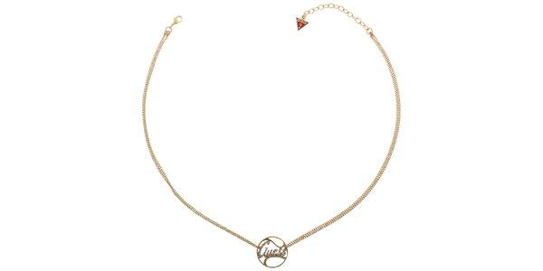 Dámský zlatý náhrdelník Guess s přívěskem
