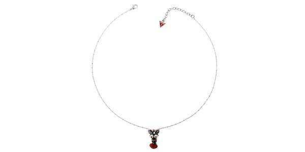 Dámský stříbrný náhrdelník Guess s talismanem