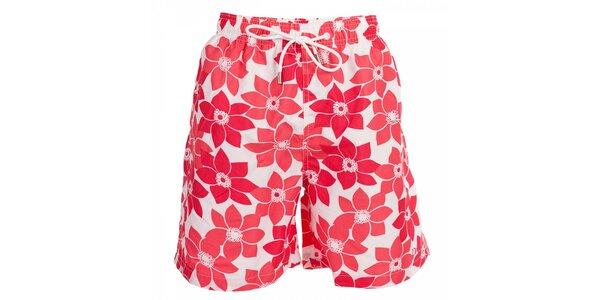Pánské koupací šortky David s růžovými květy
