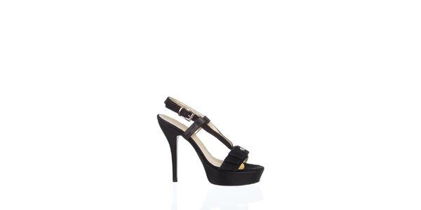 Dámské černé kožené sandály Gianfranco Ferré