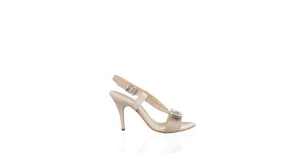 Dámské krémové kožené sandály Gianfranco Ferré