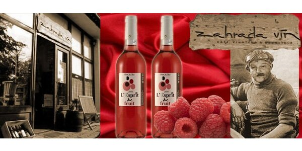 189 Kč za 2 lahve francouzského vína Rosé L´Esprit du Fruit 2010.