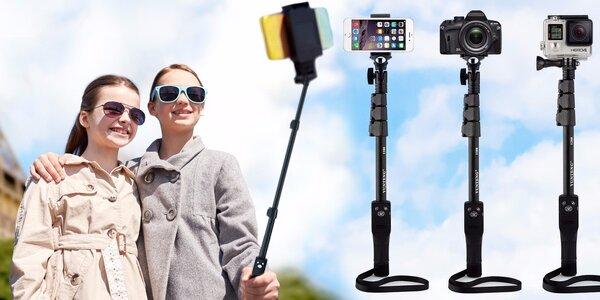 Teleskopická selfie tyč značky Yunteng o délce 123 cm