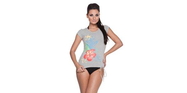 Dámské bavlněné tričko Vacanze Italiane s barevným potiskem