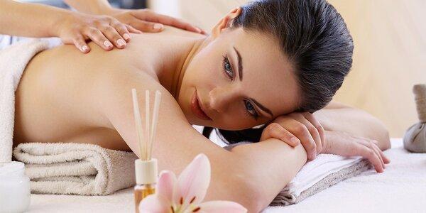 80minutový relax s vůní irisu - masáž a zábal