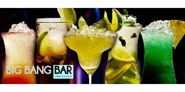 Skvostné koktejly v hodnotě 400 Kč v baru u Karlova náměstí!