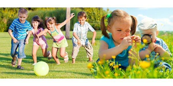 Prázdninový příměstský tábor pro děti od 2 do 7 let
