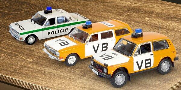 Modely historických policejních aut