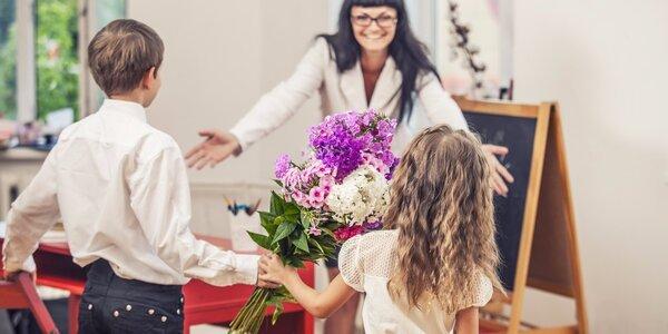 Barevná kytice pro všechny prima učitelky