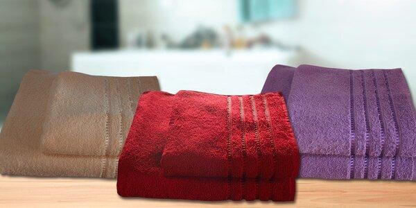 Froté ručníky a osušky se vzorovaným okrajem
