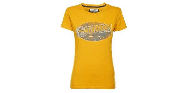 Dámské žluté tričko Timeout s potiskem