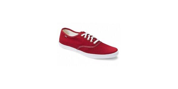 Pánské červené plátěné tenisky Keds