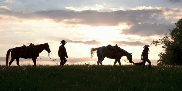 Léto i podzim v apartmánech na koňském ranči