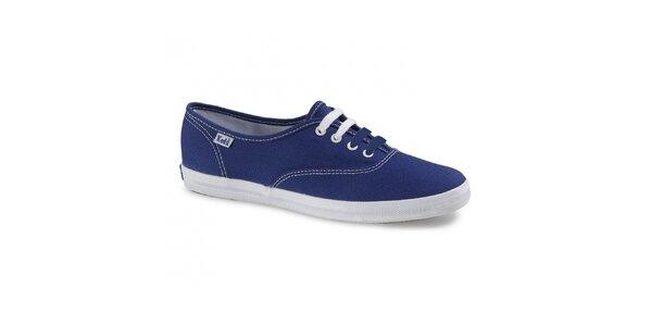 Dámské modré plátěné tenisky Keds