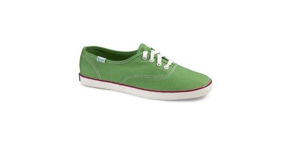 Dámské plátěné hráškově zelené tenisky Keds