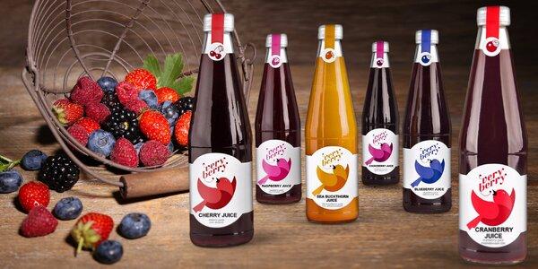 100% přírodní šťávy a sirupy Very Berry