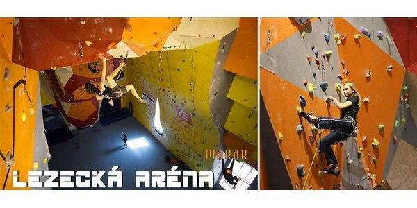 170 Kč za vstup na lezeckou stěnu pro DVA v aréně Makak!