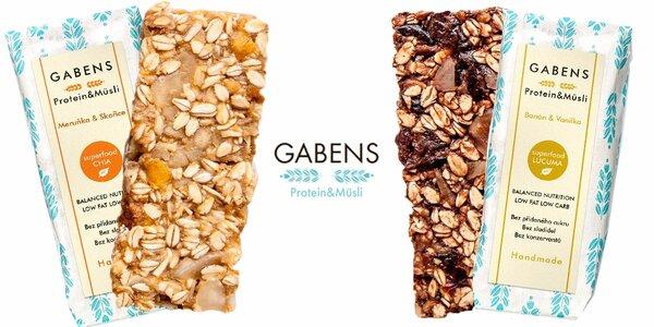 Božské müsli a proteinové tyčinky Gabens