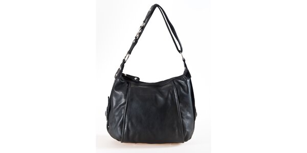 Dámská černá kožená kabelka Luisa Vannini