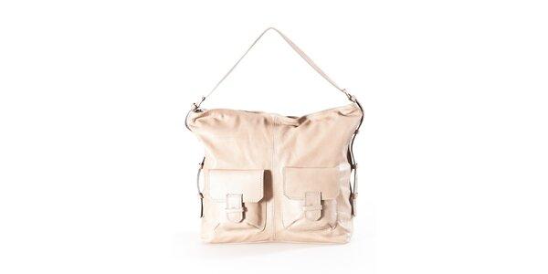 Dámská béžová kabelka se dvěma kapsami Luisa Vannini