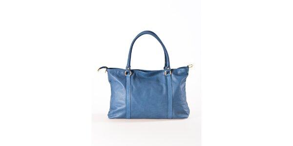 Dámská modrá kožená kabelka Luisa Vannini