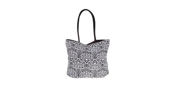 Dámská černobílá plážová taška David