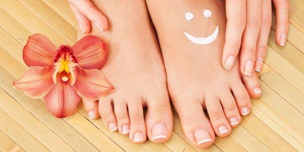 Spa pedikúra s masáží chodidel