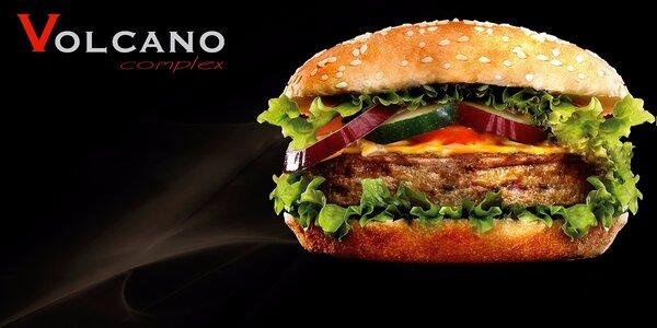 Vysoký burger s celým hovězím steakem Angus