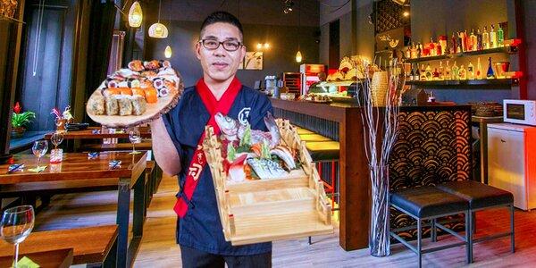 Výtečné sushi menu pro dva vč. zmrzliny Matcha