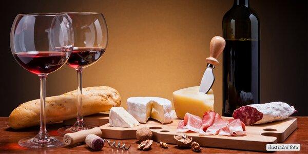 Večer u vína, sýru i klobásek pro dva