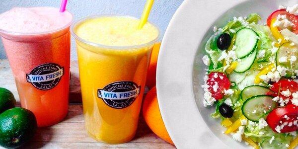 Fresh a salát nebo snídaně v kelímku