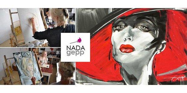 Stylizovaný portrét od malířky Nady Gepp