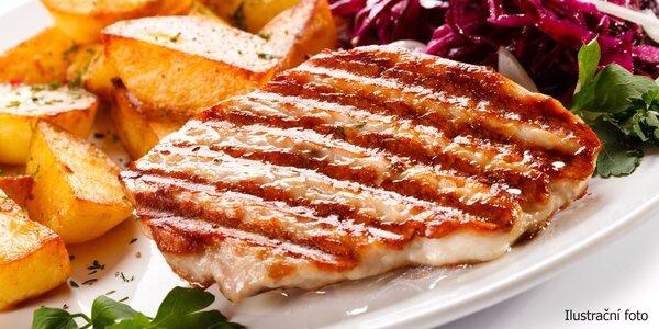 Kuřecí steak s pečeným bramborem pro dvě osoby