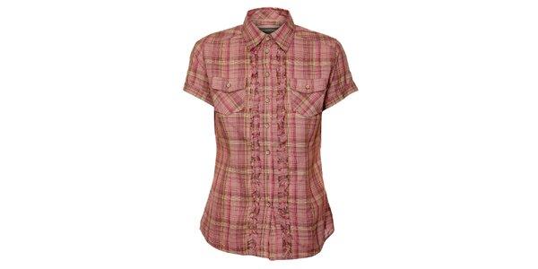 Dámská růžová kostkovaná košile Timeout