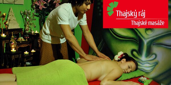 90 minut thajských masáží a relaxací
