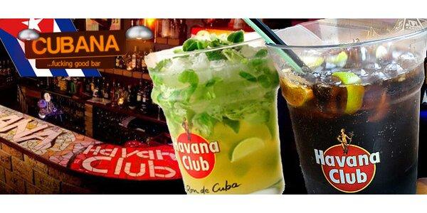 OSM drinků Cuba Libre nebo Mojito v maxi kyblíku!