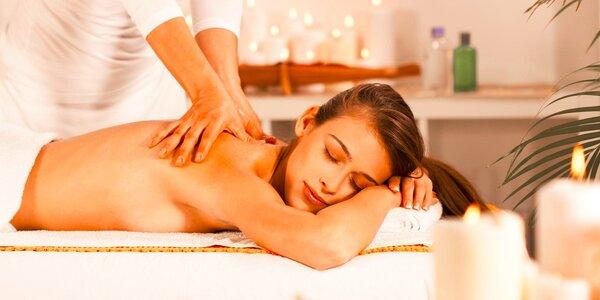 60minutová letní masáž zad, šíje, krku a nohou