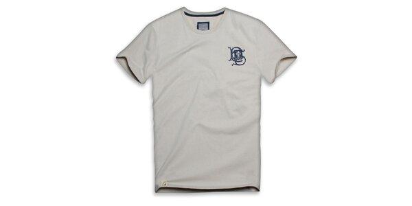 Pánské béžové bavlněné triko s ornamentem Paul Stragass