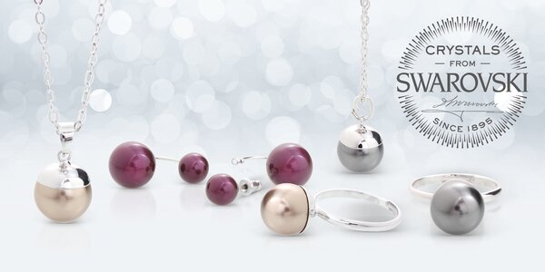 Šperky s perlami a kameny Swarovski®