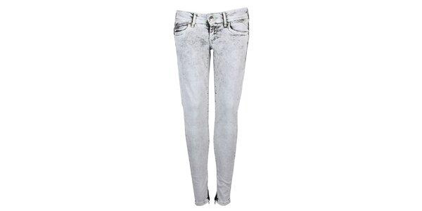 Dámské šedé vyšisované skinny Pepe Jeans