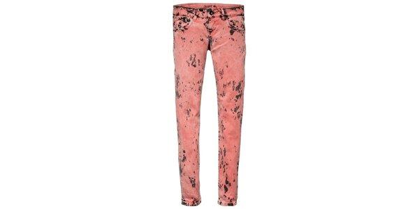 Dámské růžovo-černé šisované skinny Pepe Jeans