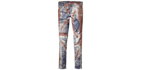 Dámské skinny Pepe jeans s britskou vlajkou