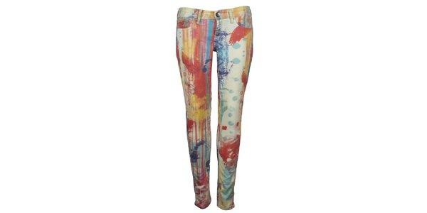 Dámské pestré pop-artové skinny Pepe Jeans